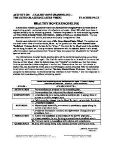HEALTHY BONE REMODELING