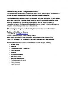 Healthy Eating Active Living Information Kit
