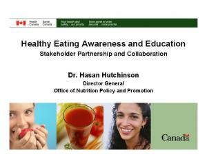 Healthy Eating Awareness and Education
