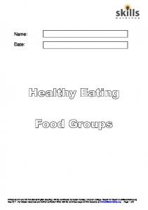 Healthy Eating food groups