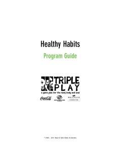 Healthy Habits Program Guide