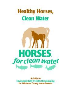 Healthy Horses, Clean Water