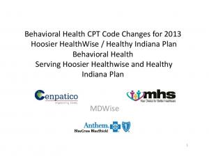 Healthy Indiana Plan Behavioral Health Serving Hoosier Healthwise and Healthy