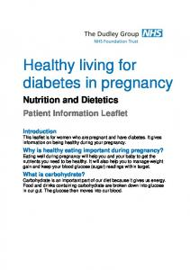 Healthy living for diabetes in pregnancy
