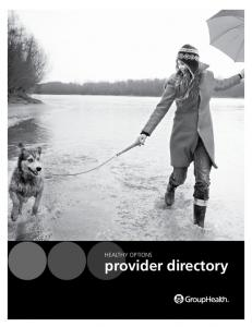 HEALTHY OPTIONS. provider directory