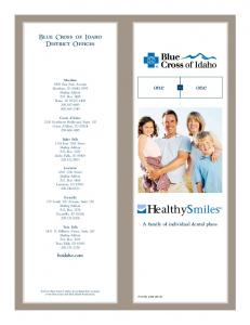 Healthy smiles. Blue Cross of Idaho District Offices. A family of individual dental plans. bcidaho.com