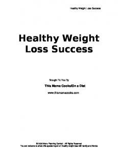 Healthy Weight Loss Success