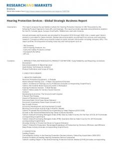 Hearing Protection Devices - Global Strategic Business Report