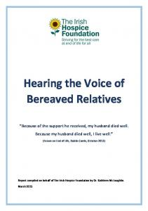 Hearing the Voice of Bereaved Relatives