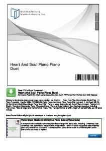 Heart And Soul Piano Piano Duet