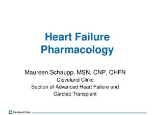 Heart Failure Pharmacology