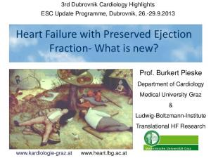 Heart Failure with Preserved Ejection Fraction- What is new?