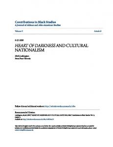 HEART OF DARKNESS AND CULTURAL NATIONALISM