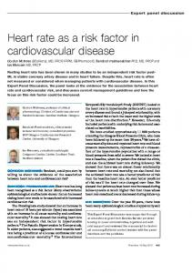 Heart rate as a risk factor in cardiovascular disease
