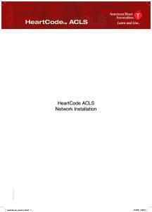 HeartCode ACLS Network Installation