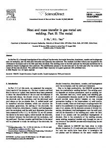 Heat and mass transfer in gas metal arc welding. Part II: The metal