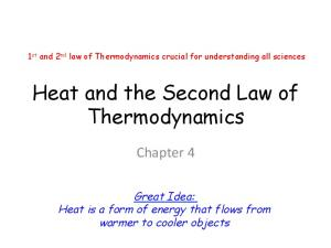 Heat and the Second Law of Thermodynamics