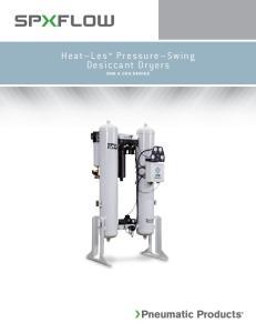 Heat Les Pressure Swing Desiccant Dryers DHA & CDA SERIES
