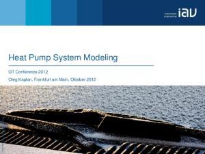 Heat Pump System Modeling