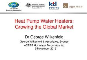 Heat Pump Water Heaters: Growing the Global Market