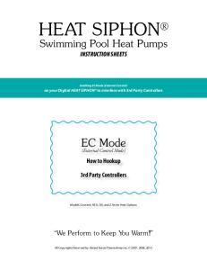 HEAT SIPHON Swimming Pool Heat Pumps