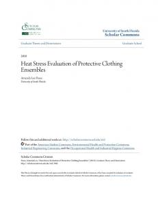 Heat Stress Evaluation of Protective Clothing Ensembles