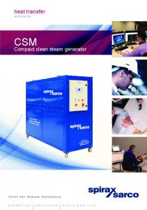 heat transfer solutions CSM Compact clean steam generator