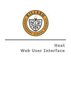 Heat Web User Interface