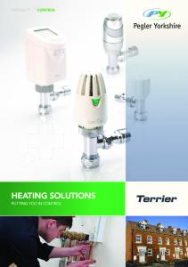 HEATING SOLUTIONS PUTTING YOU IN CONTROL