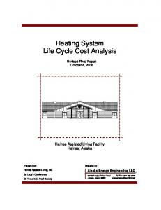 Heating System Life Cycle Cost Analysis