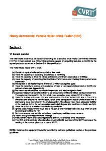 Heavy Commercial Vehicle Roller Brake Tester (RBT)