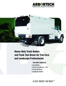 Heavy-Duty Truck Bodies and Truck Tool Boxes for Tree Care and Landscape Professionals