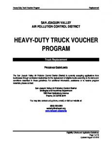 HEAVY-DUTY TRUCK VOUCHER PROGRAM