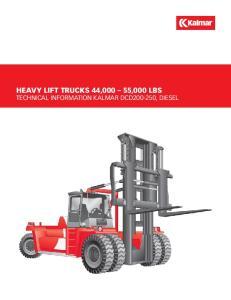 HEAVY LIFT trucks 44,000 55,000 lbs Technical Information Kalmar DCD , diesel