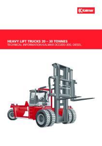 HEAVY LIFT trucks tonnes Technical Information Kalmar DCD , diesel