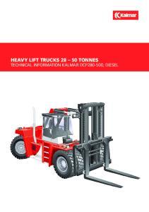 HEAVY LIFT TRUCKS TONNES TECHNICAL INFORMATION KALMAR DCF , diesel