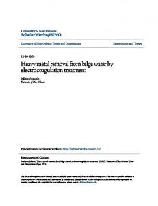 Heavy metal removal from bilge water by electrocoagulation treatment