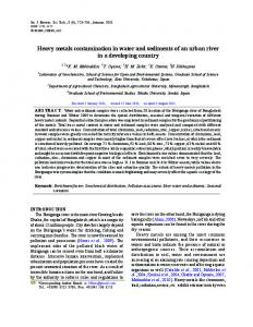 Heavy metals contamination in water and sediments of an urban river in a developing country
