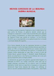 HECHOS CURIOSOS DE LA SEGUNDA GUERRA MUNDIAL