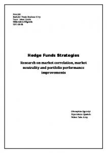Hedge Funds Strategies