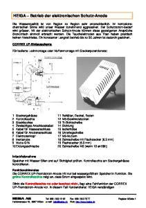HEIGA Betrieb der elektronischen Schutz-Anode