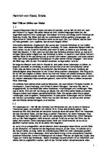 Heinrich von Kleist, Briefe