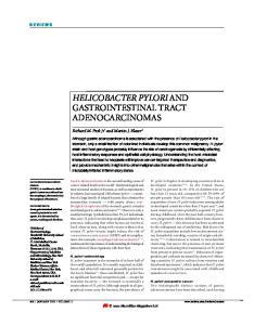 HELICOBACTER PYLORI AND GASTROINTESTINAL TRACT ADENOCARCINOMAS