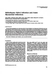 Helicobacter Pylori Infection and Acute Myocardial Infarction