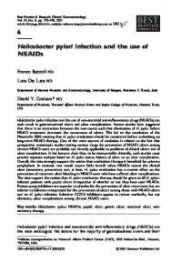 Helicobacter pylori infection and the use of NSAIDs