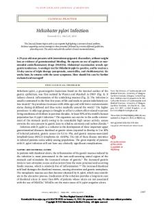 Helicobacter pylori Infection