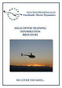 HELICOPTER TRAINING INFORMATION BROCHURE