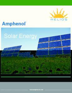 HELIOS. Amphenol. Solar Energy