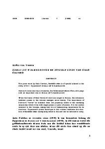 Helize van V uuren KOMAS UIT 'N BAM BOESSTOK EN INVISIBLE CITIES VAN ITALO CALVINO