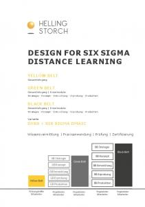HELLING STORCH DESIGN FOR SIX SIGMA DISTANCE LEARNING YELLOW BELT GREEN BELT BLACK BELT DFSS + SIX SIGMA DMAIC